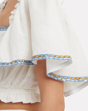 Ratina Embroidered Top, WHITE, hi-res