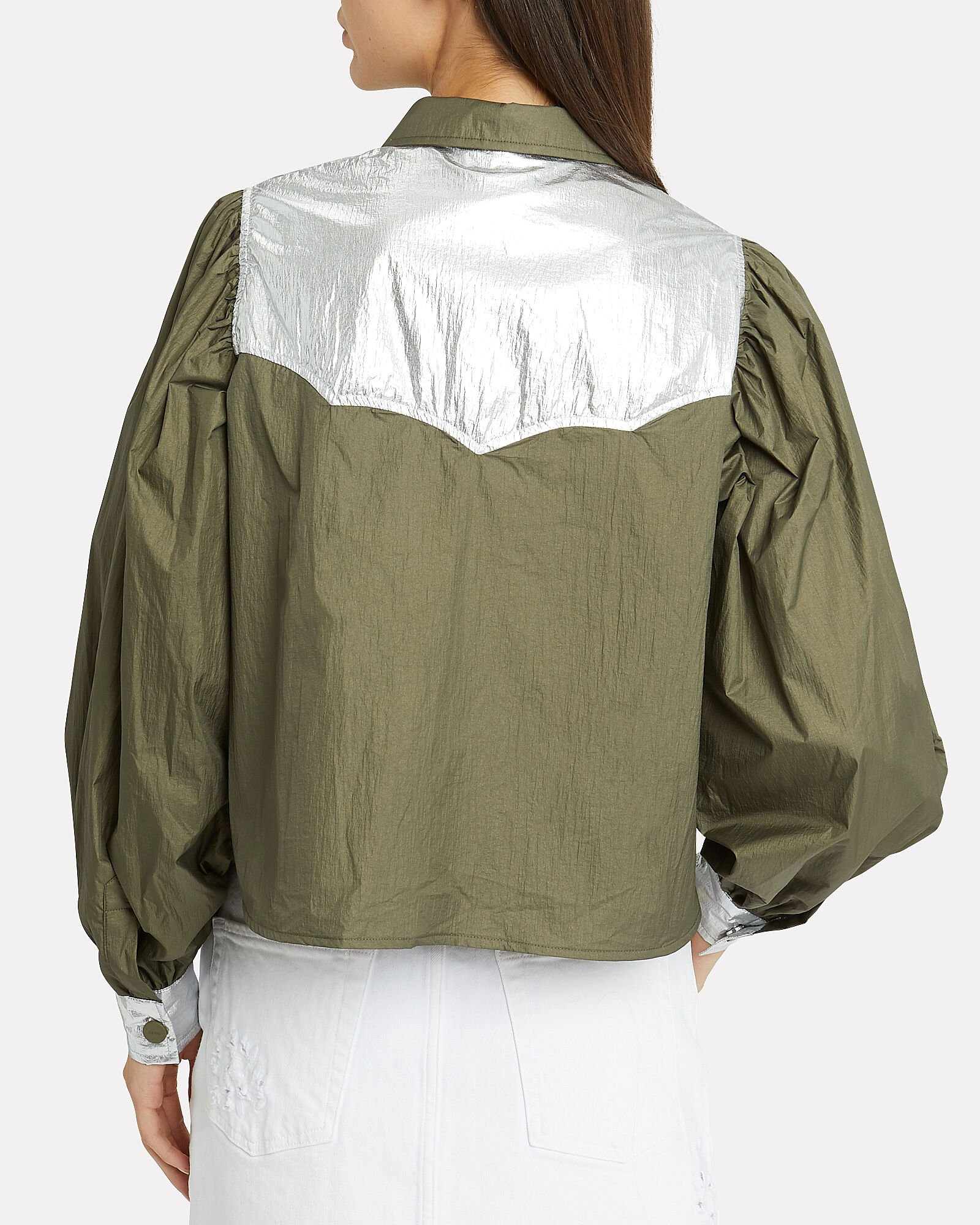 Mica Colorblocked Tech Top, OLIVE/ARMY, hi-res