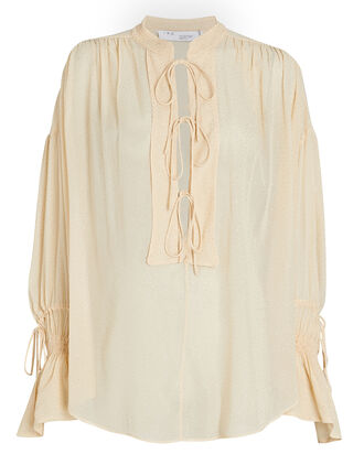 Shira Tie-Front Blouse, , hi-res