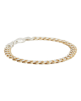 Two Tone Chain Bracelet, GOLD/SILVER, hi-res