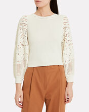 Sandra Knit Top, WHITE, hi-res