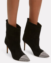 Cha Cha Sequin Suede Booties, BLACK, hi-res