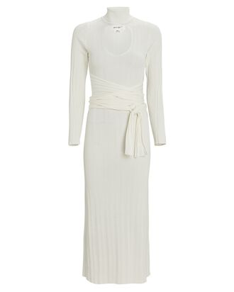 Malcolm Cut-Out Rib Knit Dress, IVORY, hi-res