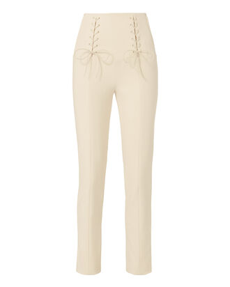 Anson Lace-Up Pants, BEIGE, hi-res