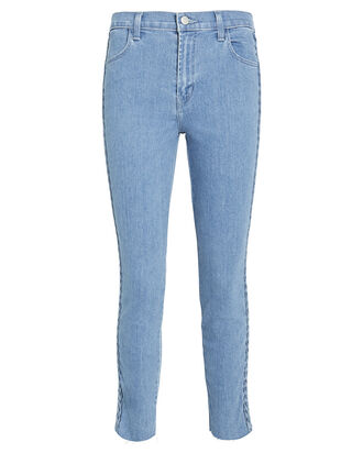 Alana Braided Stripe Skinny Jeans, DENIM, hi-res