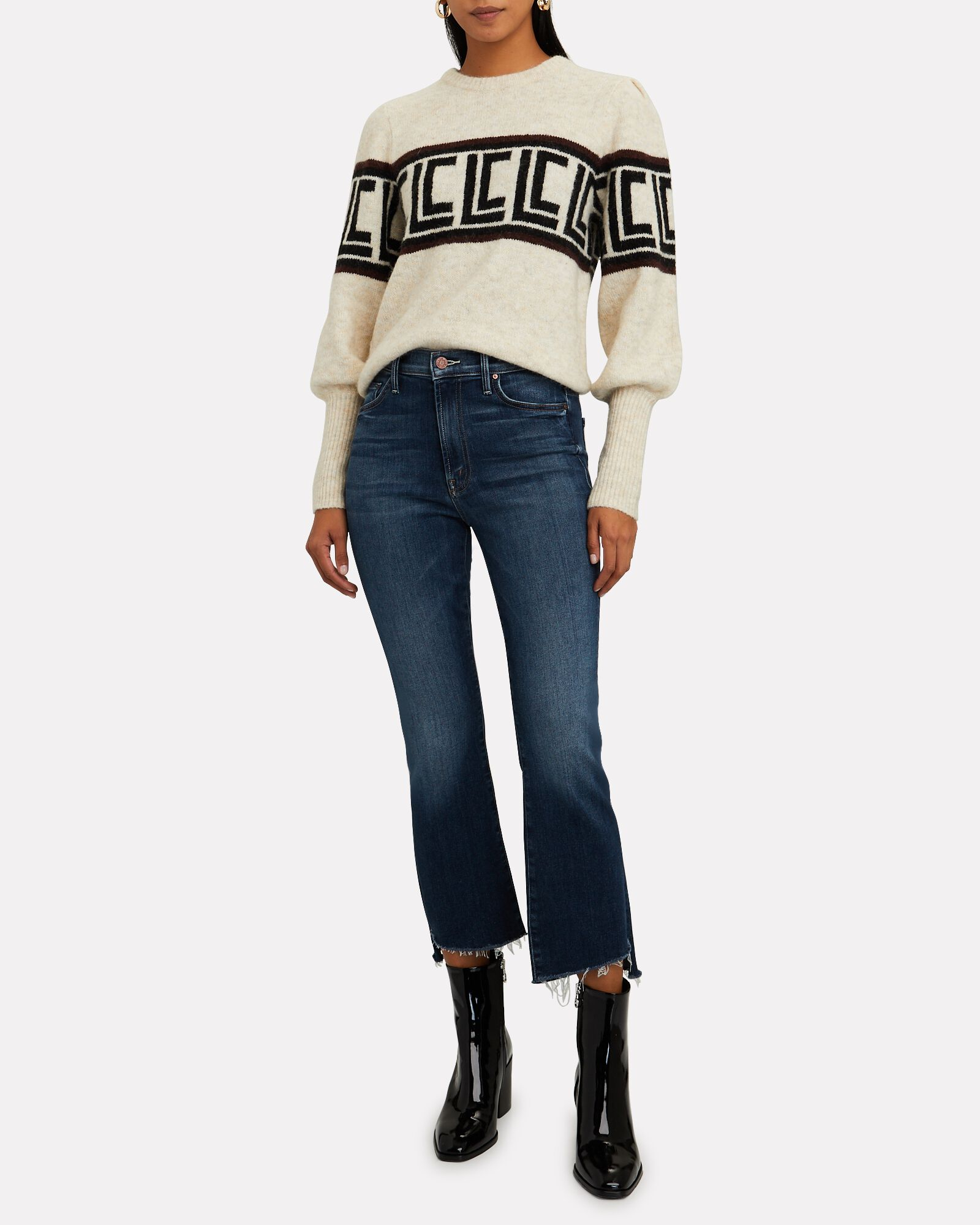 The Insider Crop Step Fray Jeans, SWEET AND SASSY, hi-res