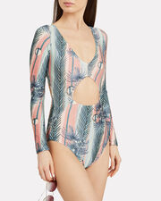 Sunset Stripe Cut Out One Piece Swimsuit, SUNSET STRIPE, hi-res