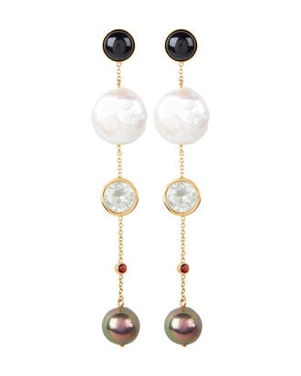 Bon Vivant Earrings, BLK/WHT, hi-res