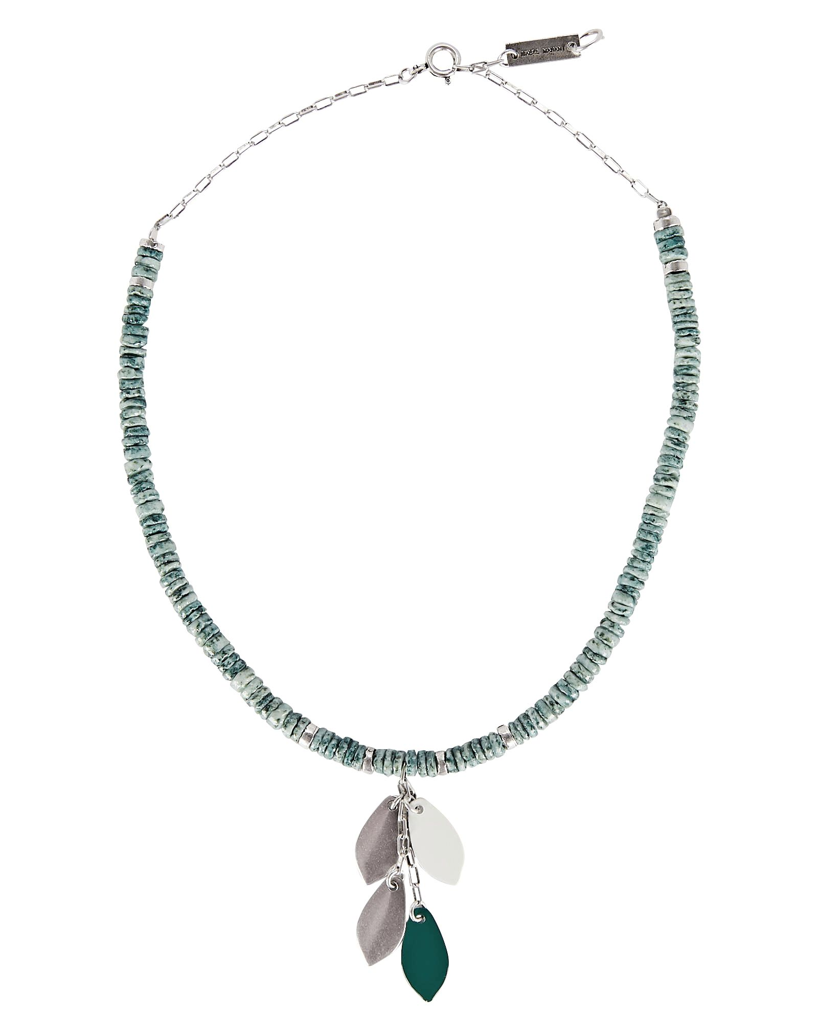 By The Sea Beaded Necklace, GREEN-LT, hi-res