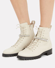 Cruz Crystal-Embellished Boots, WHITE, hi-res