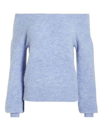 Sabina Off Shoulder Sweater, LIGHT BLUE, hi-res