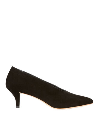 Janey Kitten Heel Pumps, BLACK, hi-res