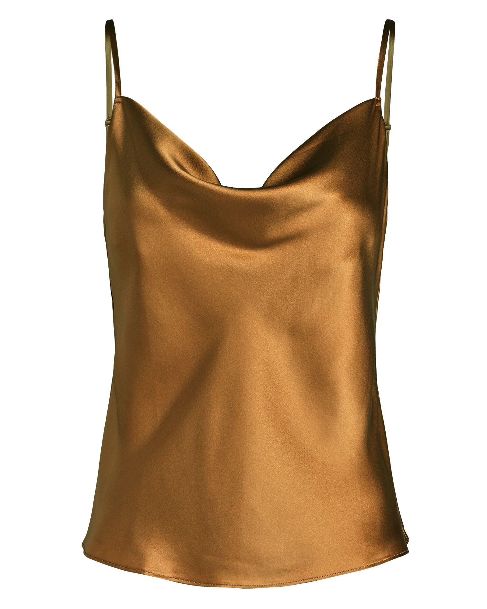 Fayette Cowl Neck Camisole, BROWN, hi-res