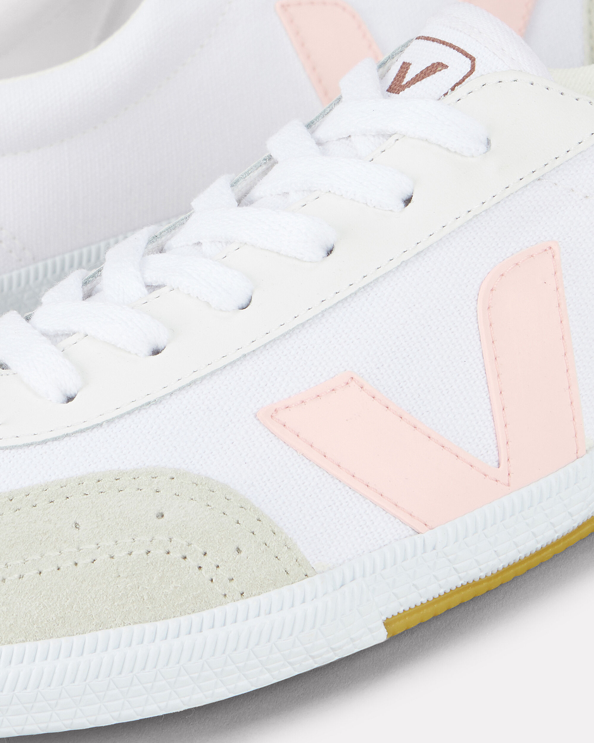 Volley Low-Top Sneakers, WHITE/PINK, hi-res