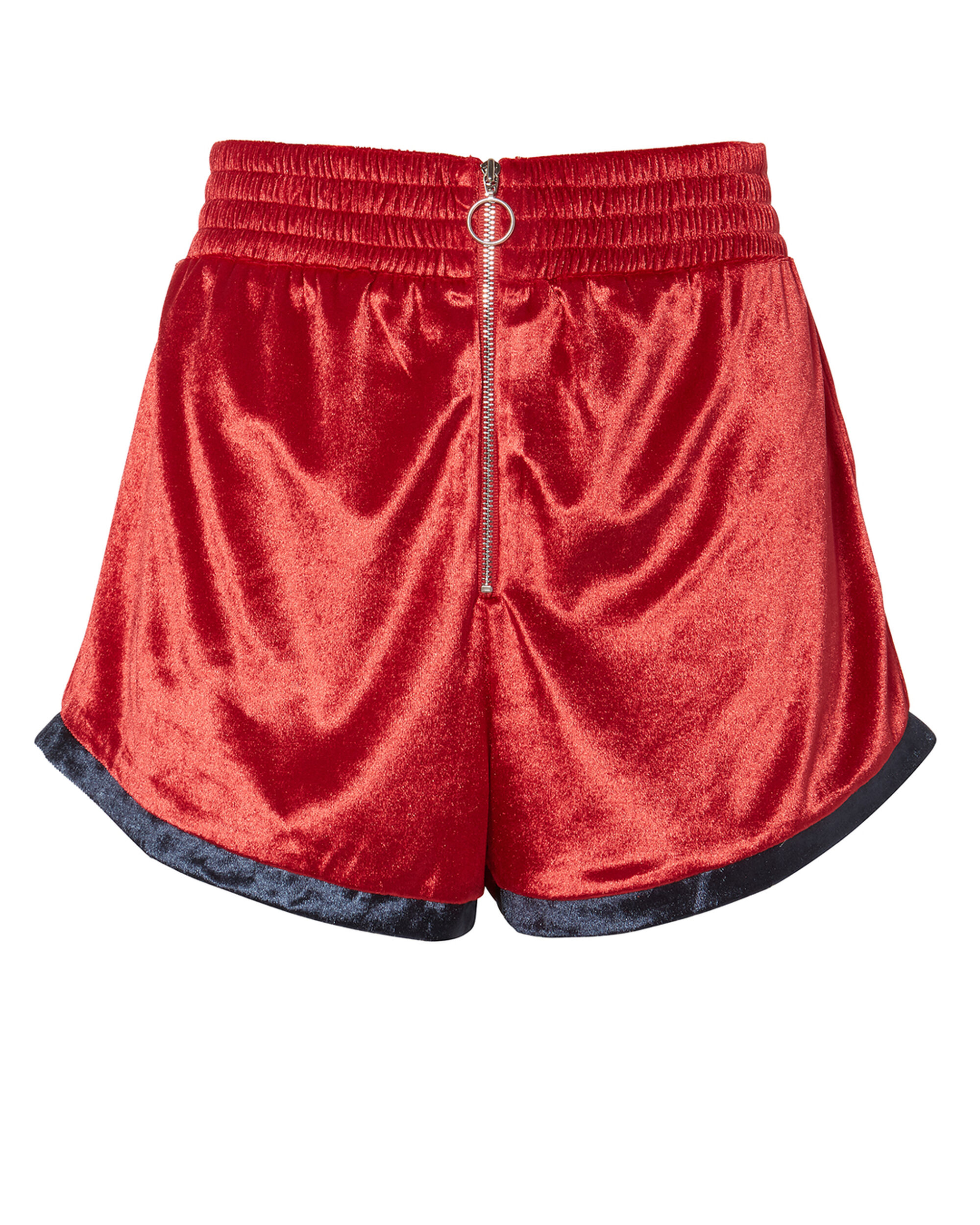 Velour Shorts, RED, hi-res