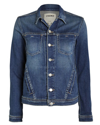 Celine Denim Jacket, DARK WASH DENIM, hi-res