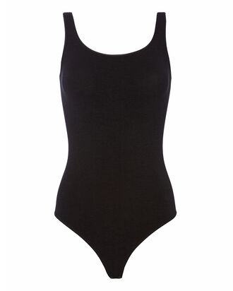 Jamaika Scoop Neck Bodysuit, BLACK, hi-res