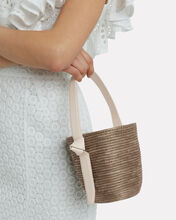 Taupe and Cream Straw Lunchpail, TAUPE/CREAM, hi-res