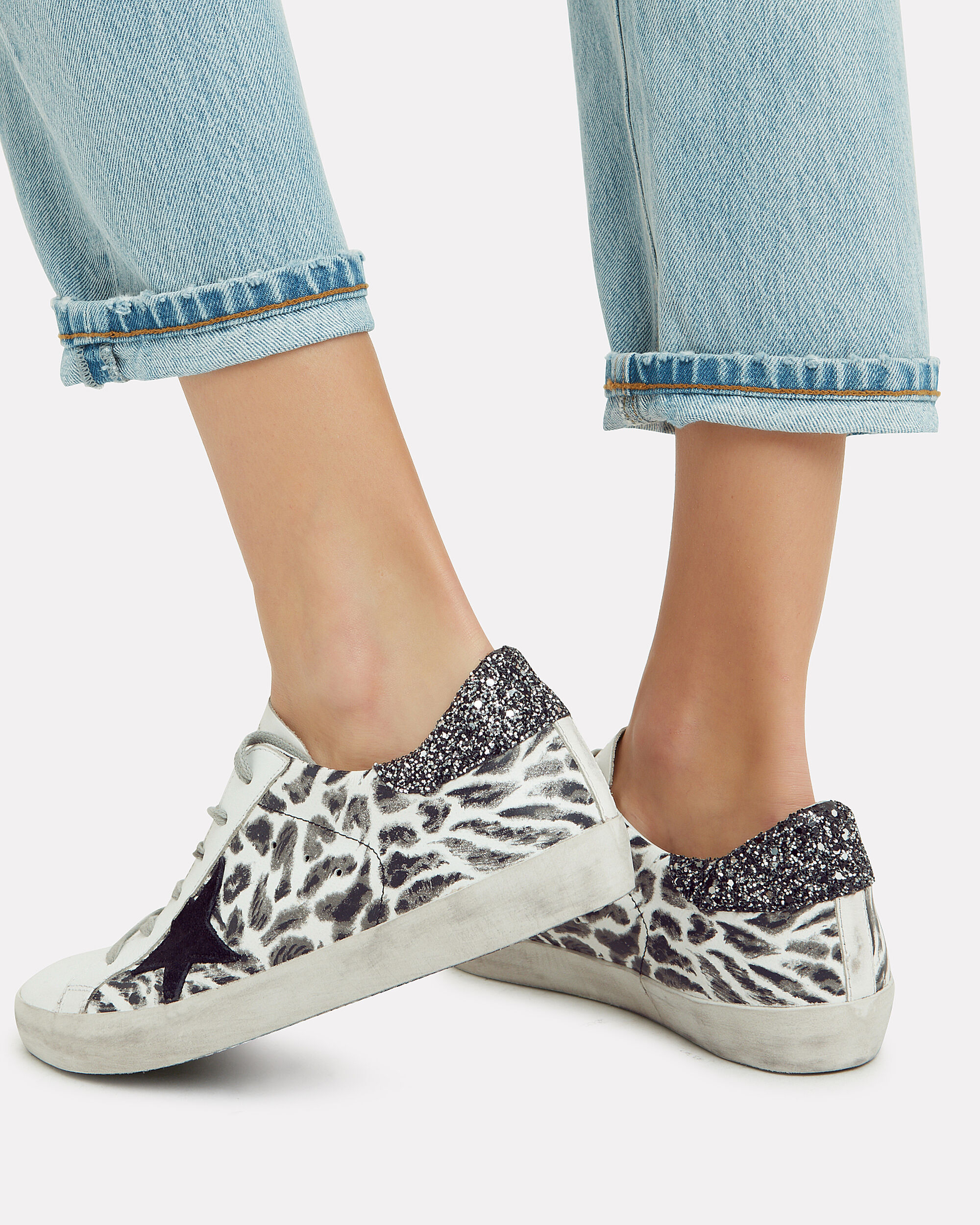 Superstar Leopard Print Low-Top Sneakers, WHITE/BLACK, hi-res