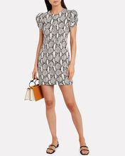 Brinley Puff Sleeve Mini Dress, MULTI, hi-res