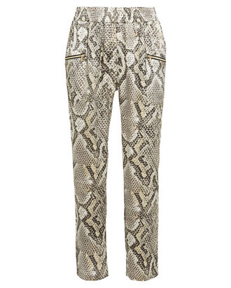 Leigh Silk Python Tapered Pants, MULTI, hi-res