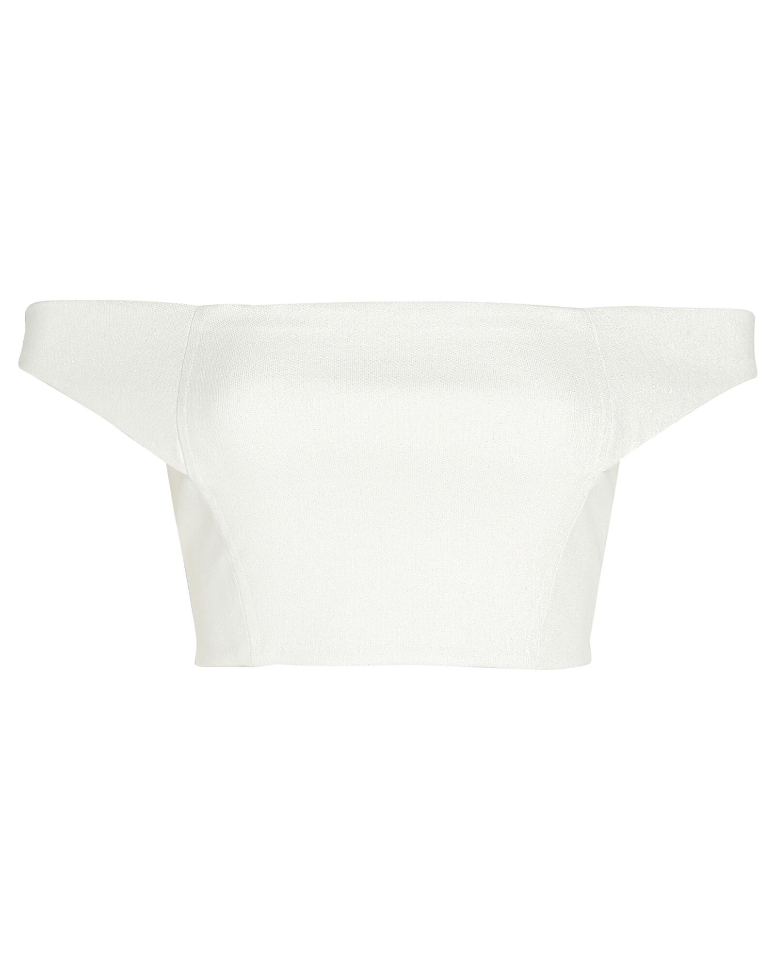 Off-the-Shoulder Crop Top, IVORY, hi-res
