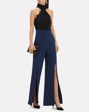 Gemma Silk Wide Leg Pants, NAVY, hi-res