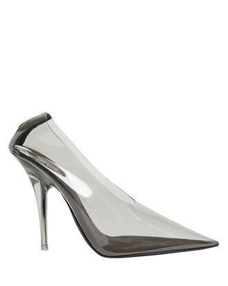 Clear Pointed Toe Pumps, CLEAR, hi-res