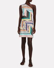 One-Shoulder Knit Mini Dress, MULTI, hi-res
