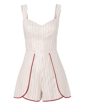 Jemma Pinstriped Romper, MULTI, hi-res