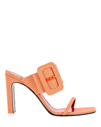 Naomi Faille Buckle Sandals, ORANGE SHERBET, hi-res