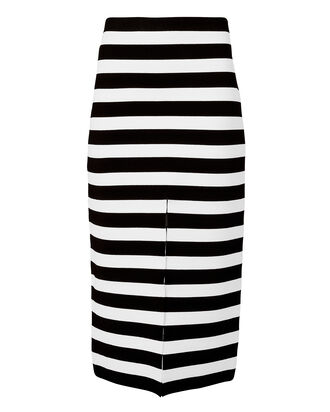 Striped Knit Pencil Skirt, BLK/WHT, hi-res