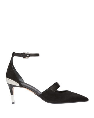 Chance Ankle Strap Pumps, BLACK, hi-res
