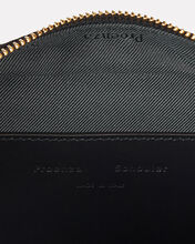 Grained Leather Bum Bag, BLACK, hi-res