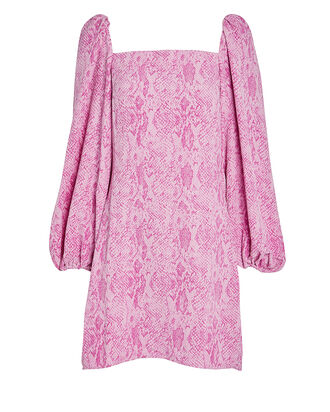 Clem Snake-Printed Bodycon Dress, PINK SNAKE PRINT, hi-res