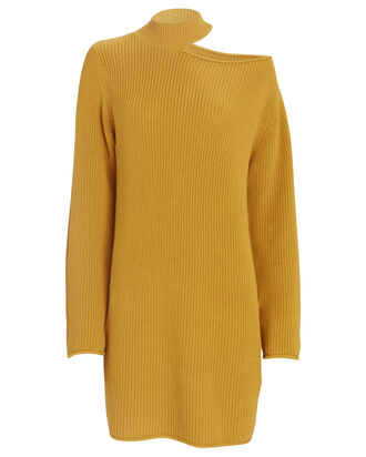 Corin Cut-Out Sweater Dress, YELLOW, hi-res