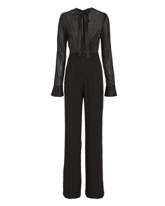 Harvelle Beaded Jumpsuit, BLACK, hi-res