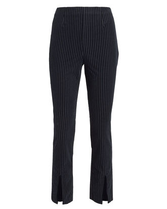 Fine Variegated Slit Pants, NAVY, hi-res