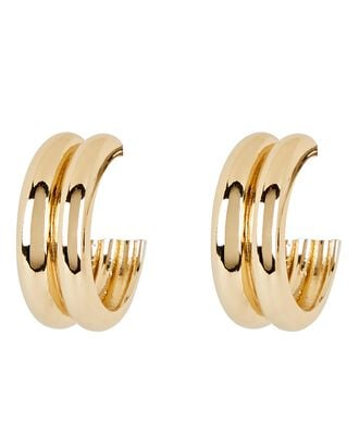 Varro Hoop Earrings, GOLD, hi-res