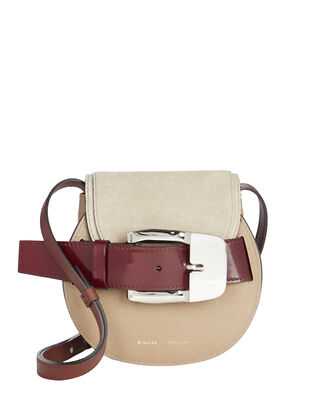 Buckle Mini Crossbody Bag, TAUPE, hi-res