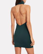 It's Freezing Crepe Halter Dress, EVERGREEN, hi-res