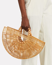 Fan Ark Bamboo Tote Bag, BEIGE, hi-res