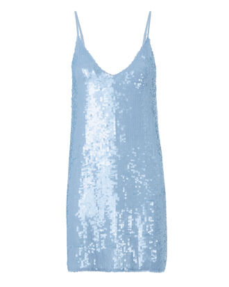 Sequin Mini Slip Dress, BLUE-LT, hi-res