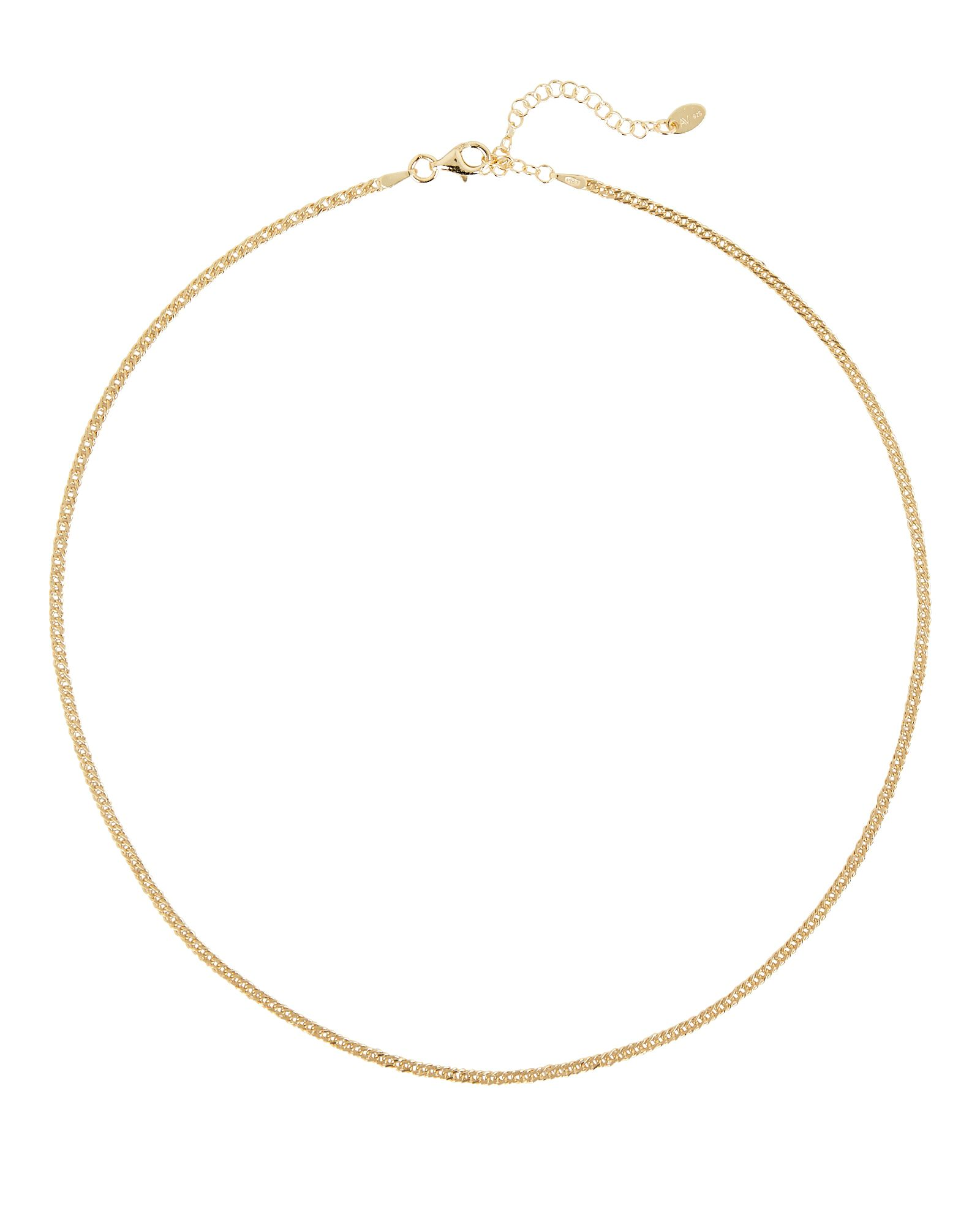 Mina Curb Chain Necklace, GOLD, hi-res