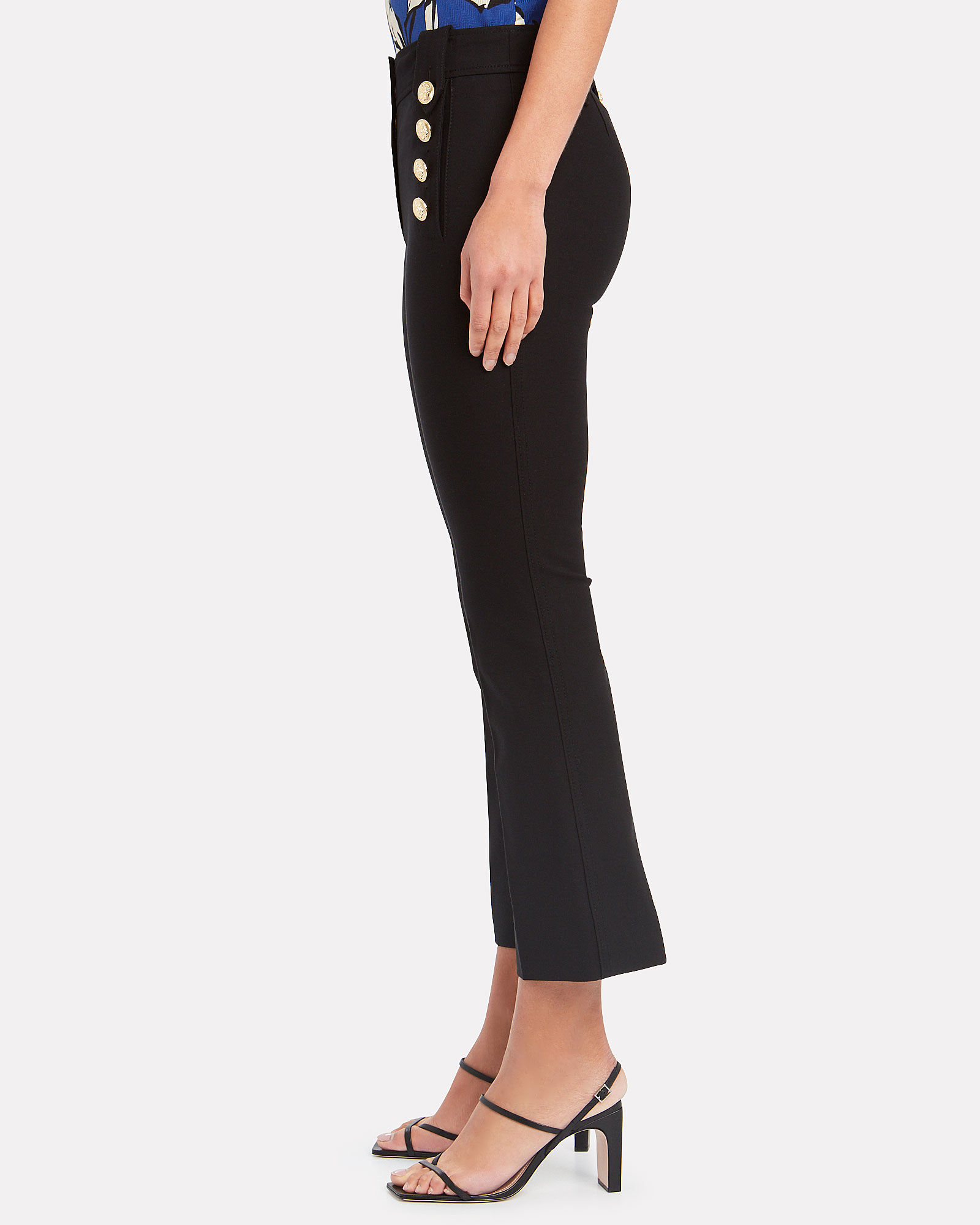 Robertson Sailor Cropped Trousers, BLACK, hi-res