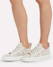 Logo Lace Mesh Sneakers, IVORY, hi-res