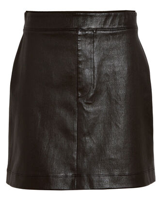 Core Stretch Leather Mini Skirt, BLACK, hi-res