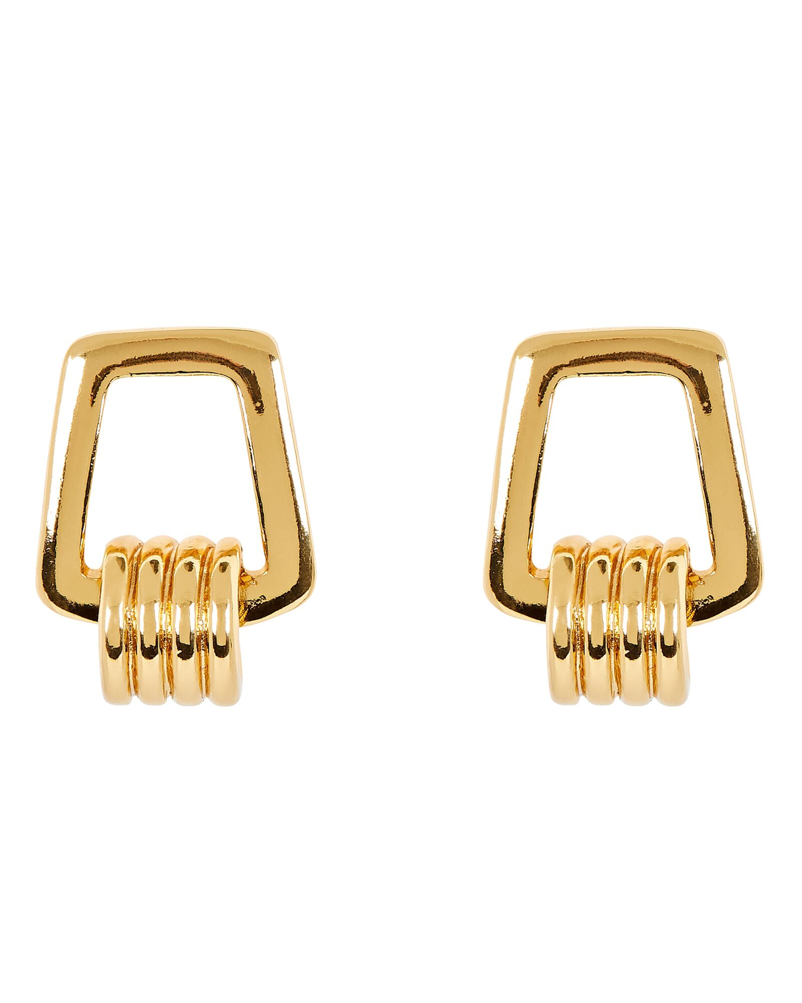 Karo Twisted Square Earrings, GOLD, hi-res
