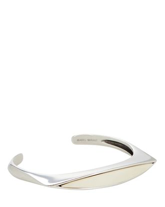 Resin Bangle Bracelet, IVORY, hi-res
