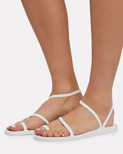 Eleftheria Braided Jelly Sandals, WHITE, hi-res